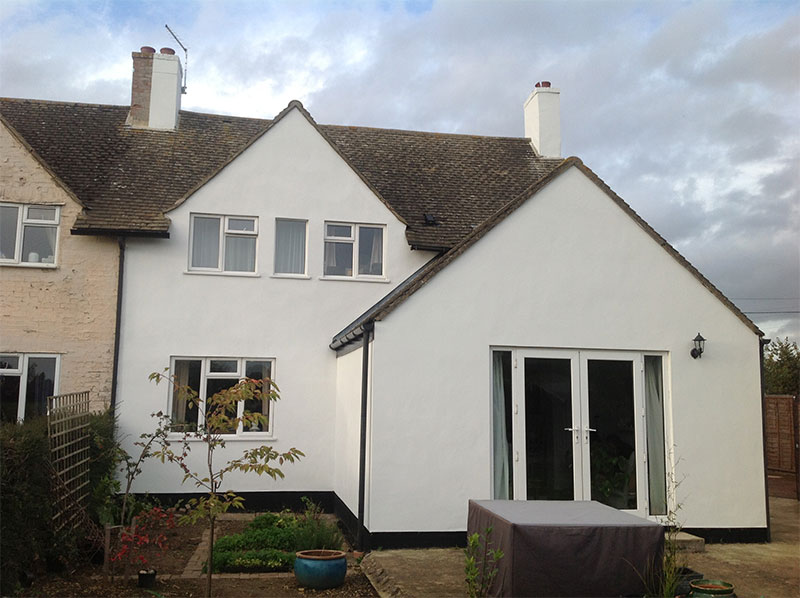 Exterior house painting and decorating